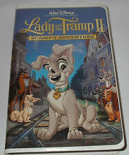 Walt Disney's Lady and Tramp II Scamp's Adventure VHS 2001 Clamshell