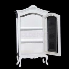 Wood Display Wine Cabinet with Opening Door for 1/12 Dollhouse Mini Furniture