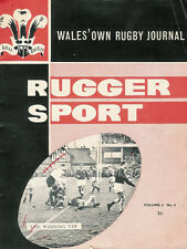 RUGGER SPORT - WELSH RUGBY MAG APPROX APRIL 1964 - Vol 4 No4 - ALL BLACK TOUR