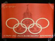 "Original 1980 Moscow Olympics ""Kremlin"" Poster"