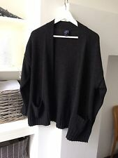 100% Cashmere dark grey super soft Gap oversize cosy cardigan XS 6 8 10