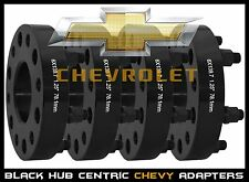 "4 Pc Silverado 1500 Truck 1.25"" Black Hub Centric Wheel Spacers Adapters 14x1.5"