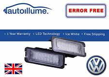 VW Golf Mk7 Mk6 Mk5 Canbus Compatible LED Number Plate Light Units