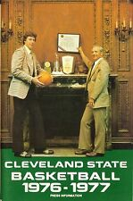 1976-77 CLEVELAND STATE VIKINGS BASKETBALL MEDIA GUIDE