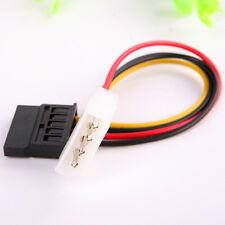 1X 4Pin IDE Molex to 15 Pin Serial ATA SATA Hard Drive Power Adapter New Cable