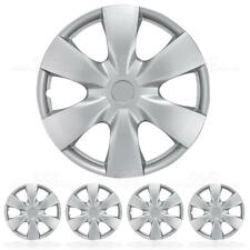 Hub Casps Cover For Car 4 PCS Set New ABS Silver Wheel Cover Cap