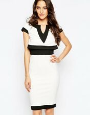 BNWT Jessica Wright Talia Black White Evening Occasion Dress Size 14 NEW