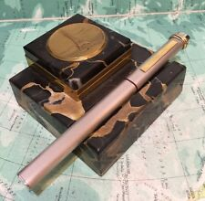SUPERB CARTIER VENDOME FOUNTAIN PEN-BRUSHED FINISH-FREE UK POST!