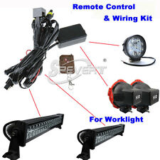 Wiring Relay Harness Kit + OFF/ON Switch For LED Work Bar / HID / Fog Lamp Light