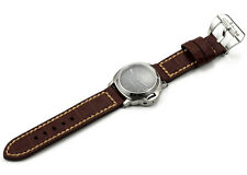 24mm Genuine Grain Leather Watch Strap Submarine Tang Buckle Bands For Panerai