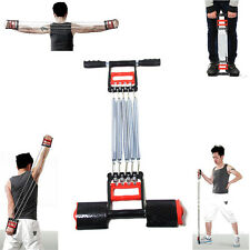 5 Spring Rowing Chest Expander Pull Stretcher Home Gym Muscle Training Exerciser