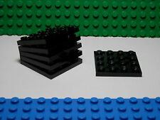 Lego Legos   NEW Six Pack of 4 x 4 Plates  BLACK