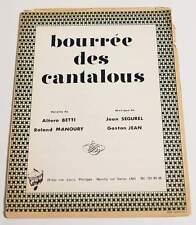 Partition sheet music JEAN SEGUREL : Bourrée des Cantalous * 60's Accordéon