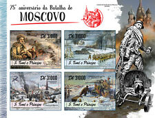 Sao Tome & Principe 2016 MNH WWII WW2 Battle of Moscow 4v M/S Paintings Stamps