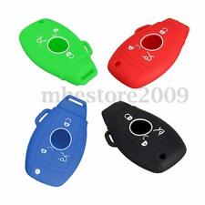3 4 Button Silicone Remote Key Cover Case For MERCEDES Benz C E R CL CLK SLK