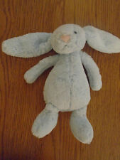 Little Jelly cat blue bunny rabbit rattle. Beanie bottom