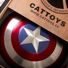 Metal Made  CATTOYS 1/1 Captain America Perfect Shield version Metal Prop