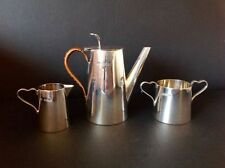 Christopher Dresser Style Antique Anglais Sterling Silver Coffee Set service