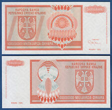 CROATIA / Krajina 1.000.000.000 Dinara 1993 UNC without serial  P. R17