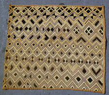 ORIGINAL KUBA RAFFIA CLOTH PANEL TEXTILE CURRENCY KASSAI SHOOWA DR CONGO ETHNIX