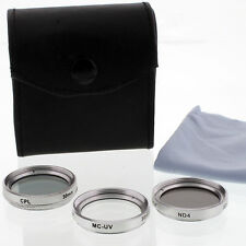 Zykkor CPL MC UV ND4 30mm Lens Filter Kit set for Sony 30 mm camcorders cam