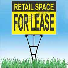 """18""""x24"""" RETAIL SPACE FOR LEASE Outdoor Yard Sign & Stake Lawn Real Estate Store"""