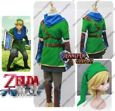Legend of Zelda Hyrule Warriors Link Cosplay Costume With Scarf + wig