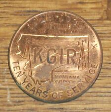 1939 GOOD LUCK RADIO STATION PROMO KGIR VOICE of MT MONTANA TOKEN COIN WWII ERA