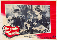 FOTOBUSTA 3, UN GENIO IN FAMIGLIA So Goes My Love MIRNA LOY, DON AMECHE POSTER