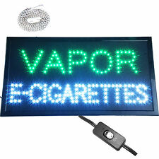 E-Cigs Vapor E-Vape E-Liquid Pens LED Open smoke tobacco Cigar shop Store Sign