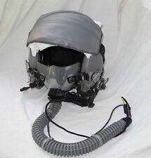 USAF HGU-55/P FLIGHT HELMET LARGE Gentex w/ Oxygen Mask MBU 12/P FLIGHT BAG