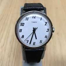 Vintage 1972 Timex Men Classic White Dial Hand-Winding Mechanical Watch Hour~Run