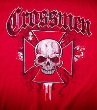 CROSSMEN / IRON CROSS, SKULL / GOTHIC,  BIKER / T - SHIRT RED SIZE L