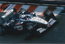 David Coulthard West McLaren Mercedes F1 Hand Signed 12x8 Photo 3.