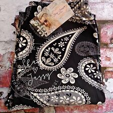 Boutique Black & White Paisley Leggings Buttery Soft One Size OS 2-12