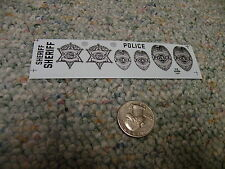 Herald King decals HO O S G scale Sheriff Police badges silver  ZZ284