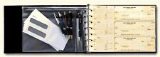 7-Ring 3-on-a-Page Business Check Book Binder w/Zipped Vinyl Pouch Black *NEW*