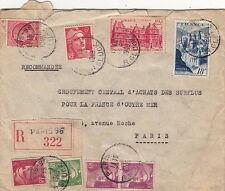 Lettre Recommandé Paris pour Paris 1949 Cover