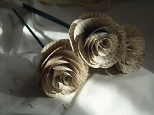 Six Book Page Roses on Wooden Stem, Tolkien, The Hobbit