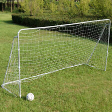 Soccer Goal 12' x 6' Football W/Net Velcro Straps, Anchor Ball Training Set