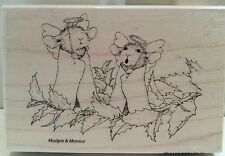 "New House Mouse ""Angel Mice"" WM Rubber Stamp"