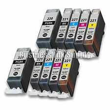 10 New Ink Set for Canon CLI-221 PGI-220 Pixma MX860