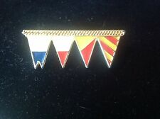 Vintage FUN Beautiful Gold Tone Martime Sea Flags Flag Enamel Brooch Pin