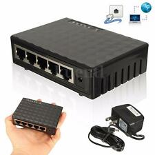 5 Ports RJ-45 10/100/1000 Gigabit Ethernet Network Switch Auto-MDI/MDIX Hub New