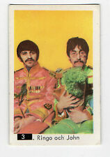1960s Swedish Pop Star Card #3 Ringo & John Sgt Pepper Beatles Sectional Back