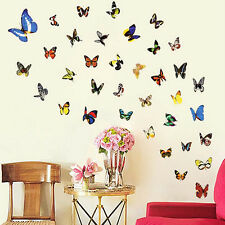 80pcs Butterfly Wall Stickers Decal Removable Art Vinyl Decor Home New W87