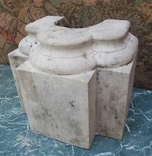 Importante base ancienne ornement socle statue colonne N° 1