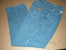 """Carhartt Denim Relaxed Fit Work Jeans 381-83 Size 34"""" x 30"""""""