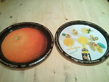 VINTAGE RETRO ORIGINAL BRITVIC 55 ORANGE TRAYS X 2  NOTHING BEATS A TRUE BRITVIC
