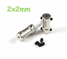 2Pcs 2x2mm Brass RC Boat Motor Transmission Connector/Coupler US TH038-05701
